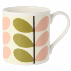 Two Colour Stem Olive & Pink Large Mug