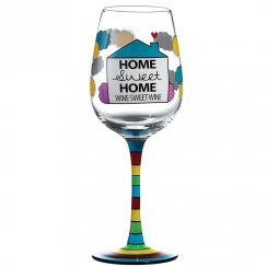 Home Sweet Home Wine Glass
