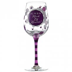 Will You Be My Maid of Honour Wine Glass
