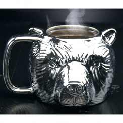 Grizzly Silver Bear Mug