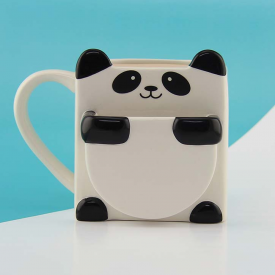 Panda Hug Biscuit Holder Mug