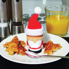 Santa Egg Cup with Toast Cutter