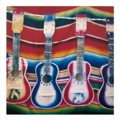 Photographic Colouful Guitars Card