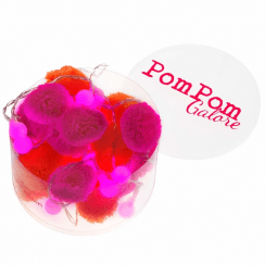 Pom Pom Orange & Pink Fairy LED String Lights