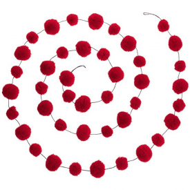 Red Pom Pom Garland Decoration
