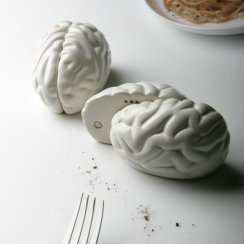 Brain Salt and Pepper Shakers
