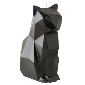 Kisa Cat Black Candle