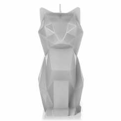 Kisa Cat Candle Grey