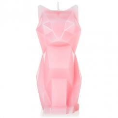 Kisa Cat Candle Pink