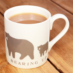 Bearing Up Bear Mug