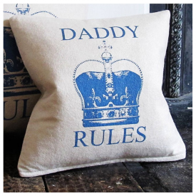 Daddy Rules Screen Printed Cushion