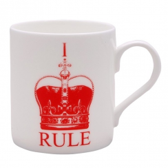 I Rule Red Crown Mug