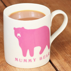 Mummy Bear Pink Mug