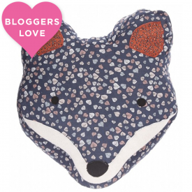 Alphie Fox Blue Cushion