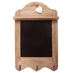 Ashley Farmhouse Scalloped Chalkboard with 3 Hooks