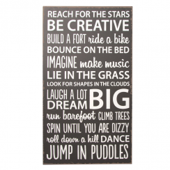 Be Creative Plaque in Black