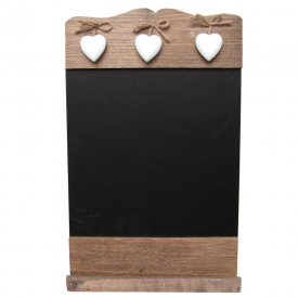 Black Board & 3 Wooden Hearts