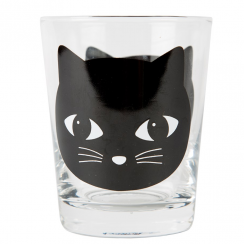 Black Cat Glass Tumbler