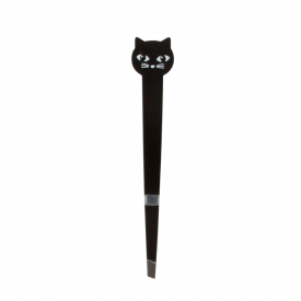 Black Cat Tilted Tweezers