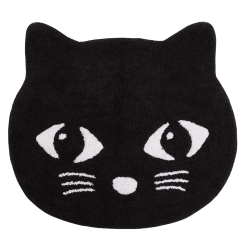 Black Cute Cat Rug