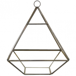 Black Pyramid Shape Terrarium