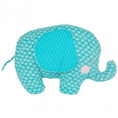 Blue Elliot Elephant Cushion