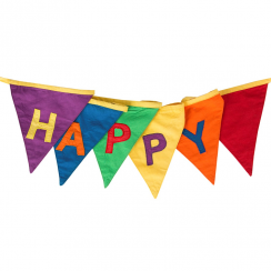 Bold Brights Happy Birthday Bunting