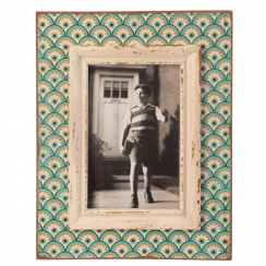 Boudoir Stamp Photo Frame Aqua