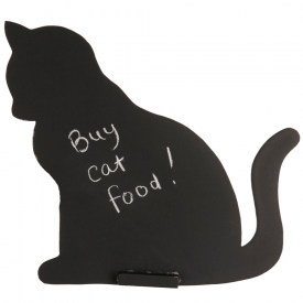 Cat Shaped Chalkboard with Chalk Rest