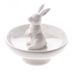 Ceramic Rabbit Ornament For Rings