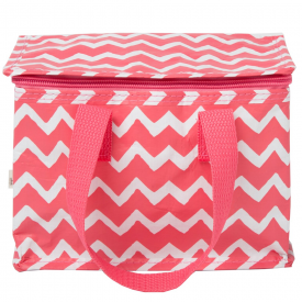 Chevron Lunch Bag Pink