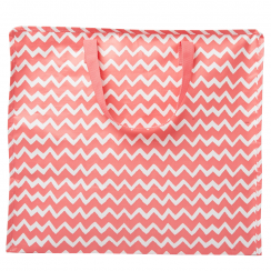 Chevron Storage Bag Pink