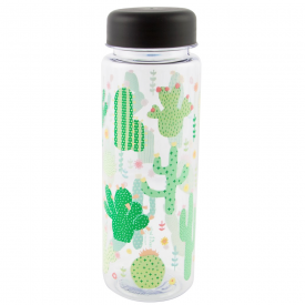 Colourful Cactus Clear Water Bottle