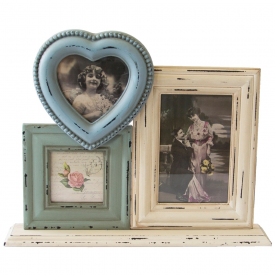 Delilah Heart Triple Standing Photo Frame