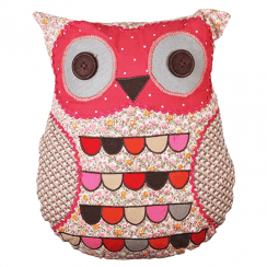 Ditsy Owl Patterned Cushion