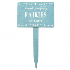 Fairies Sleep Here Wooden Garden Sign