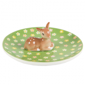 Floral Fawn Jewellery Dish