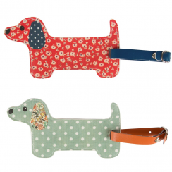 Floral Friends Dachshund Luggage Tag