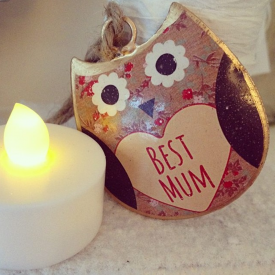 Florence Mini Best Mum Hanging Owl