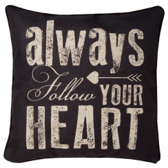 Follow Your Heart Retro Arrow Cushion
