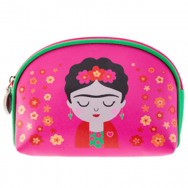 Frida Pink Cosmetic Bag