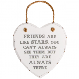 Friends Are Like Stars Heart Plaque