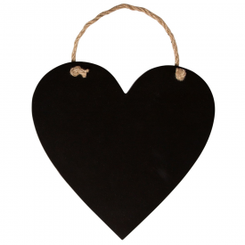 Hanging Mini Heart Chalkboard