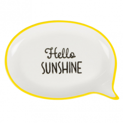 Hello Sunshine Speech Trinket Dish in Yellow