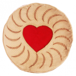 Jam Biscuit Cushion (Jammy Dodger)