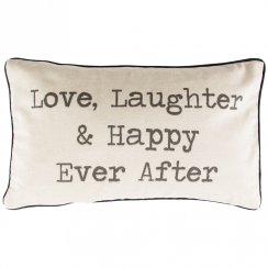 Love Laughter & Happy Ever After Cushion