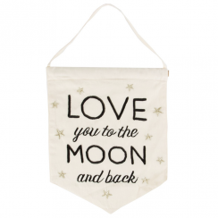 Love You to the Moon & Back Banner Flag