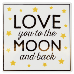 Love you to The Moon & Back, Golden Stars Coaster
