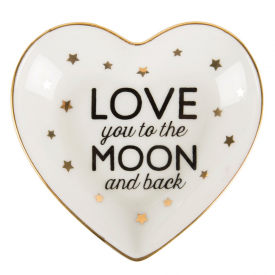 Love You To The Moon & Back Heart Trinket Dish