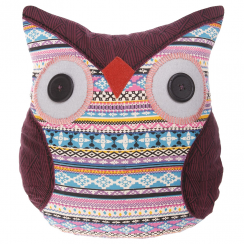 Maya Tribal Patterened Owl Cushion